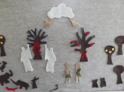 adam and eve on the felt board