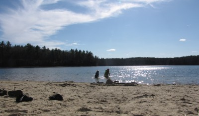Harvey and Zion in Walden Pond