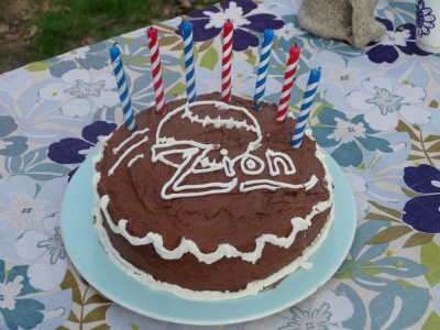 Zion's chocolate baseball cake
