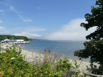 the beach at Lincolnville