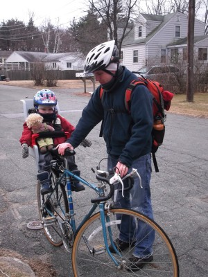 Harvey and me getting ready for a winter ride