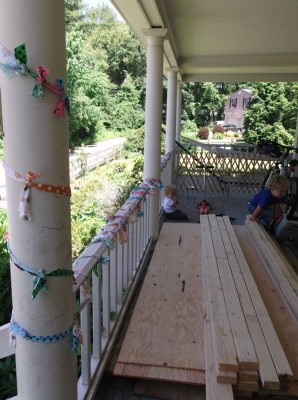 birthday porch decorations