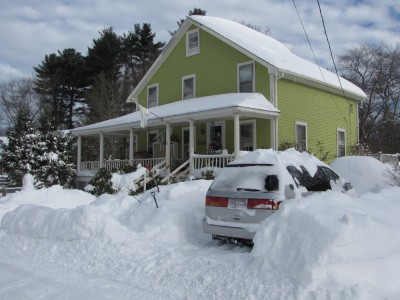 our house the day after the blizzard
