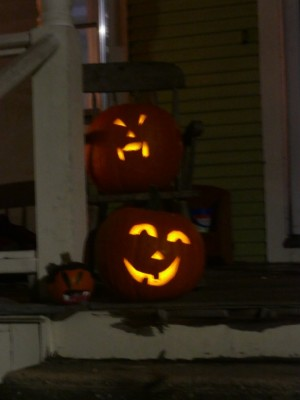 glowing jack-o-lanterns