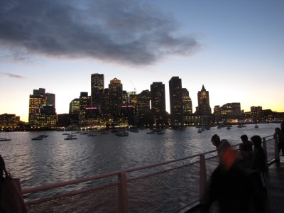 the South End skyline viewed from the ferry