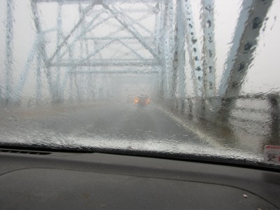 low visibility on the Castleton-on-Hudson bridge
