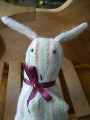 stuffed bunny close up