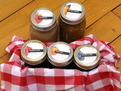 some of the preserves we gave as Christmas presents