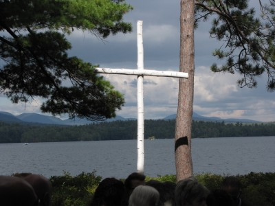 the cross on Church Island