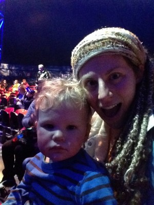 Leah and Lijah sefie at the circus