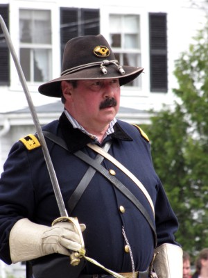 a civil war reenactor