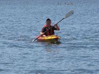 Danny in a kayak on Spy Pond