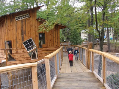 the new tree house at the Discovery Museum in Acton