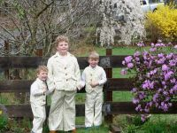 the boys in their Easter suits