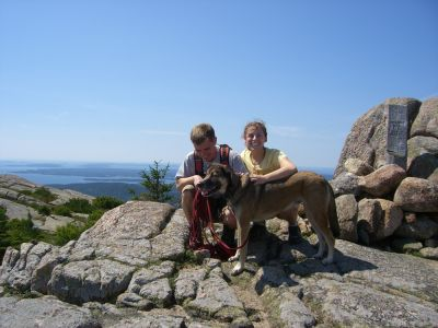 Leah Dan and Rascal on top of Pemetic in 2008