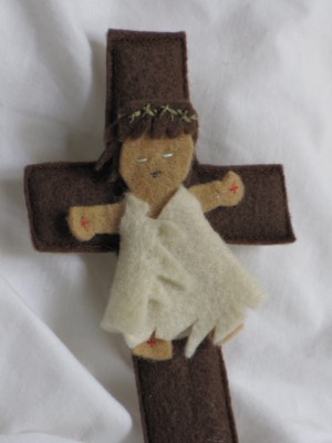 felt board Jesus on the cross