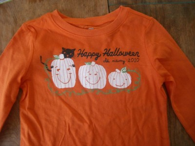 haloween shirt on the table