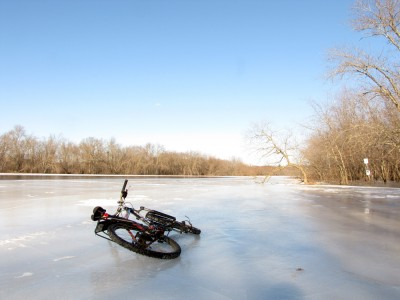 my bike on the ice
