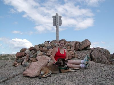 Leah and Rascal atop Penobscot Mtn