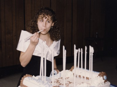 12-year-old Leah at her BatMitzvah