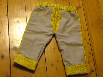 homemade trousers: rear view