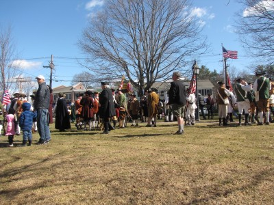 lots of reenactors milling around