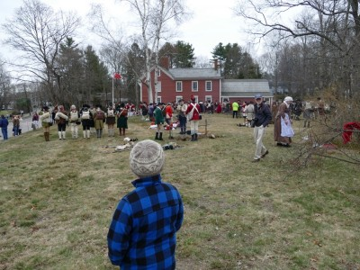 Harvey looking at reenactors at Monroe Tavern