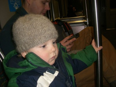 harvey's first train ride