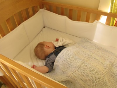 Harvey napping in his crib