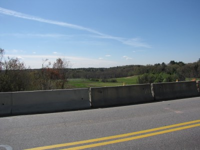 a view from River Road down the valley to the Concord River