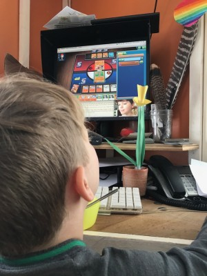 Lijah playing against Liam on Pokemon online (and FaceTime)
