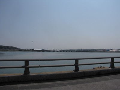 a view of the Fore River from Rt 295 in Portland