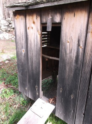 retro chicken coop at minuteman national park