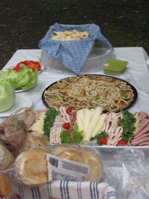 some of the food at the reunion