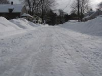our street after the latest snow
