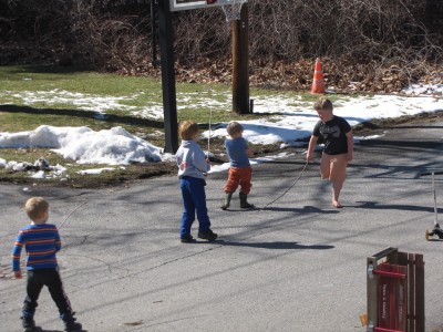 kids playing on the street