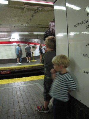 Harvey and Zion on the Red Line platform
