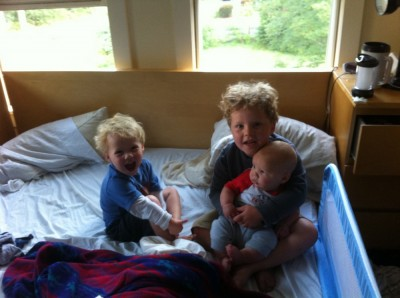 the three boys in our bed