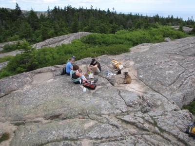 the 2011 camping crew resting atop Penobscot