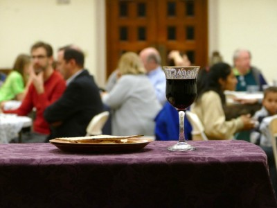 communion elements at the Maundy Thursday dinner