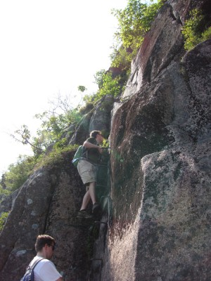 Kyle and Andrew on the ladders of Precipice
