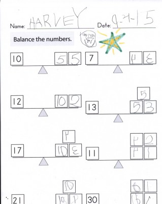 a math worksheet