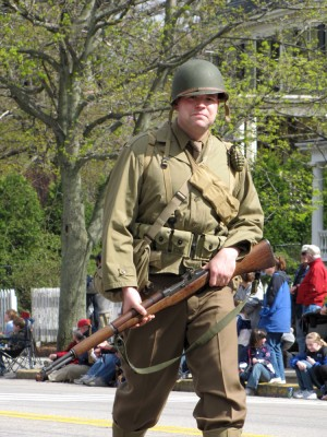 a World War II reenactor