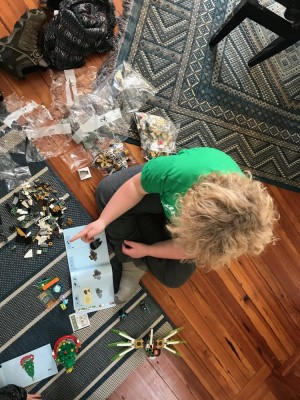 Harvey building with Legos