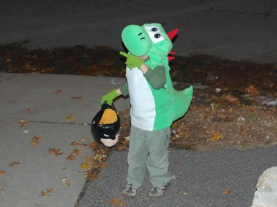 Yoshi out trick-or-treating