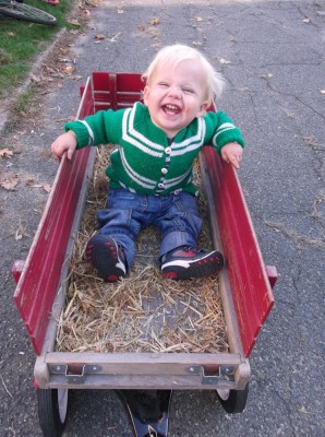 Zion in his own hayride