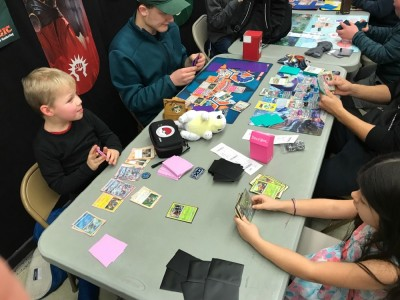 Zion playing at a Pokemon event